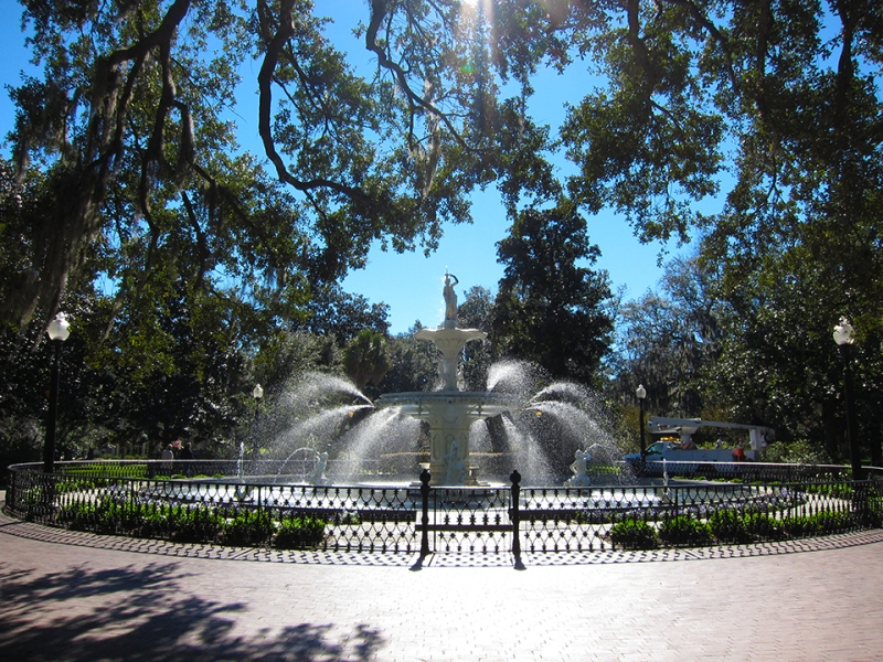 fountain spray