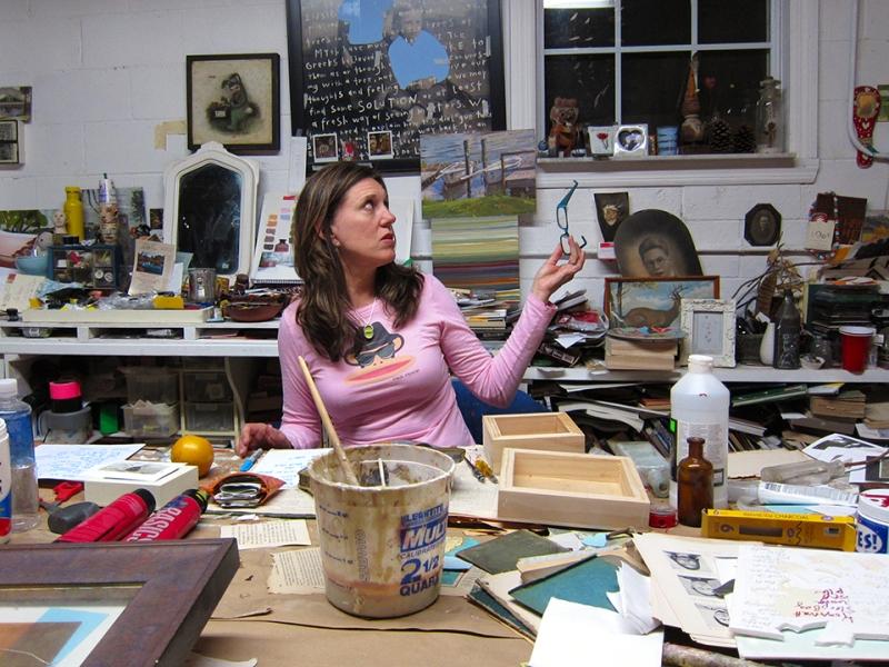 lynn in her studio