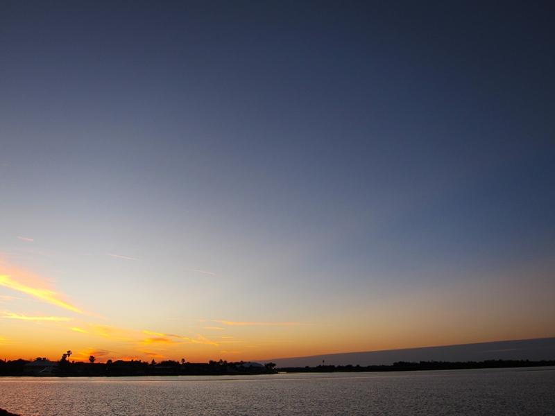 sunset on the intercoastal
