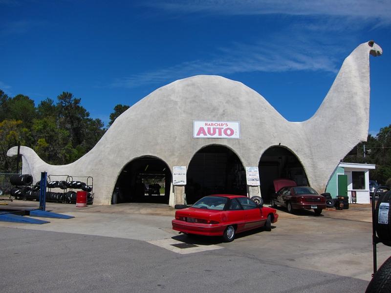 dinosaur repair shop