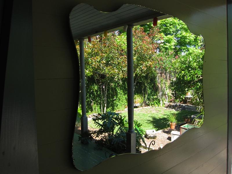 yard in the mirror