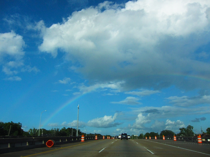 double rainbow orange cones